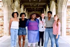 Caitlin Robinson '19 (far left), along with her BRIDGES cohort, recently earned a 2018 Keeper of the Dream Award. (Photo courtesy: National Civil Rights Museum)