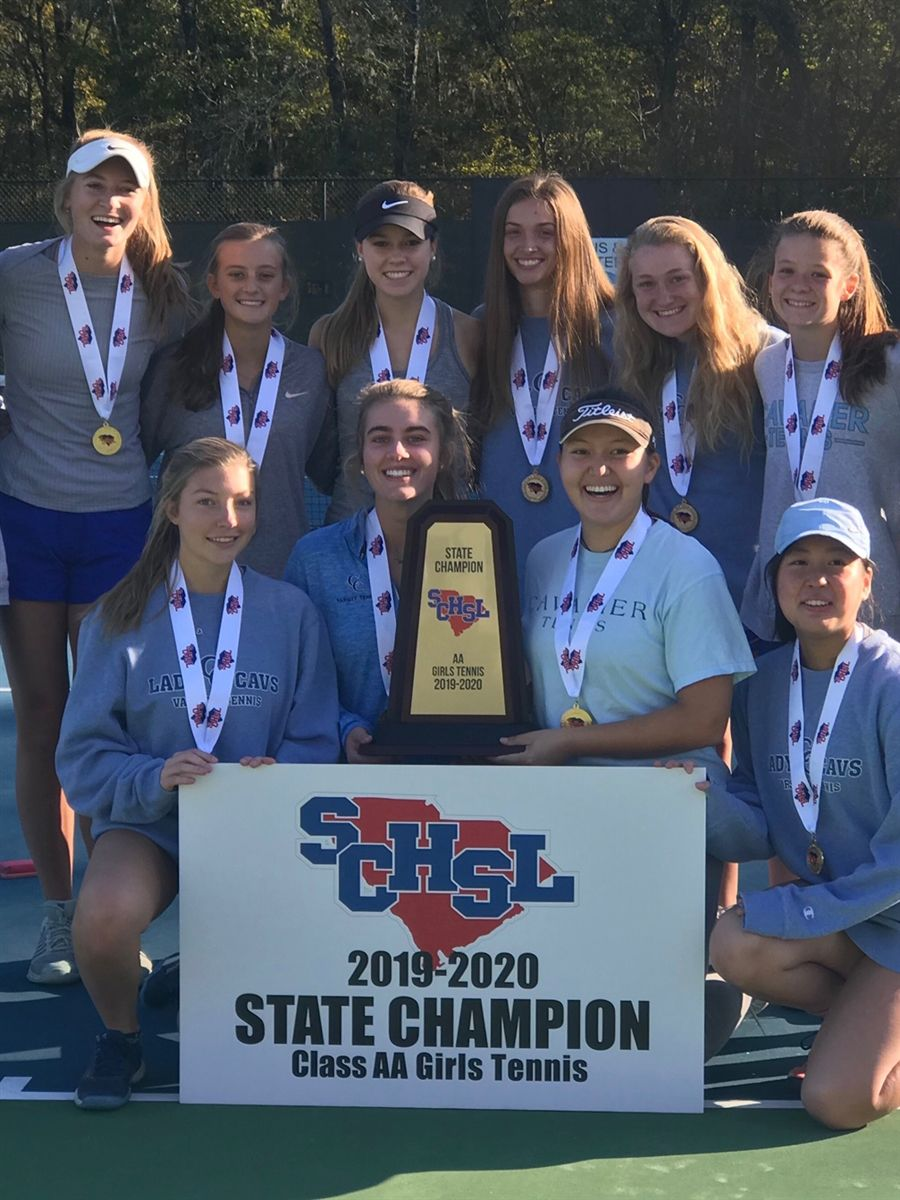 Girls Tennis Wins State