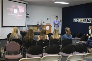 Dr. Drew Brannon gives lessons on leadership to female CCES athletes