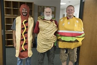Our maintenance team always makes us laugh with their Halloween costumes each year.