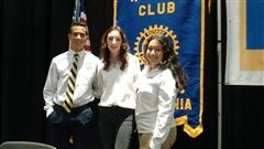 Anthony Vazquez, Ashley Jorgensen and Gabby Diaz received scholarships from the Modesto Rotary Club