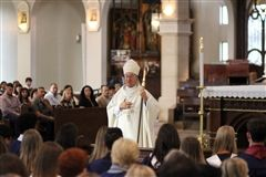 Bishop Myron Cotta celebrating Mass