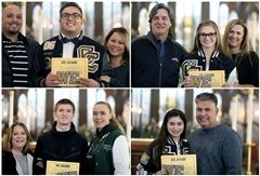 WE Award Winners: Mikey Duran, Devyn Halvorson, Dylan Everhard, and Nadia Estacio
