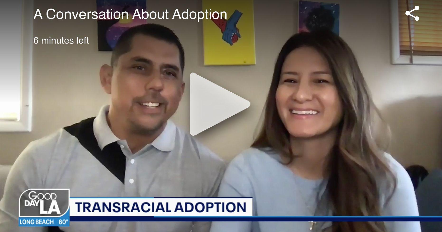 Screenshot of Cesar and Jennifer Parra on Good Day LA
