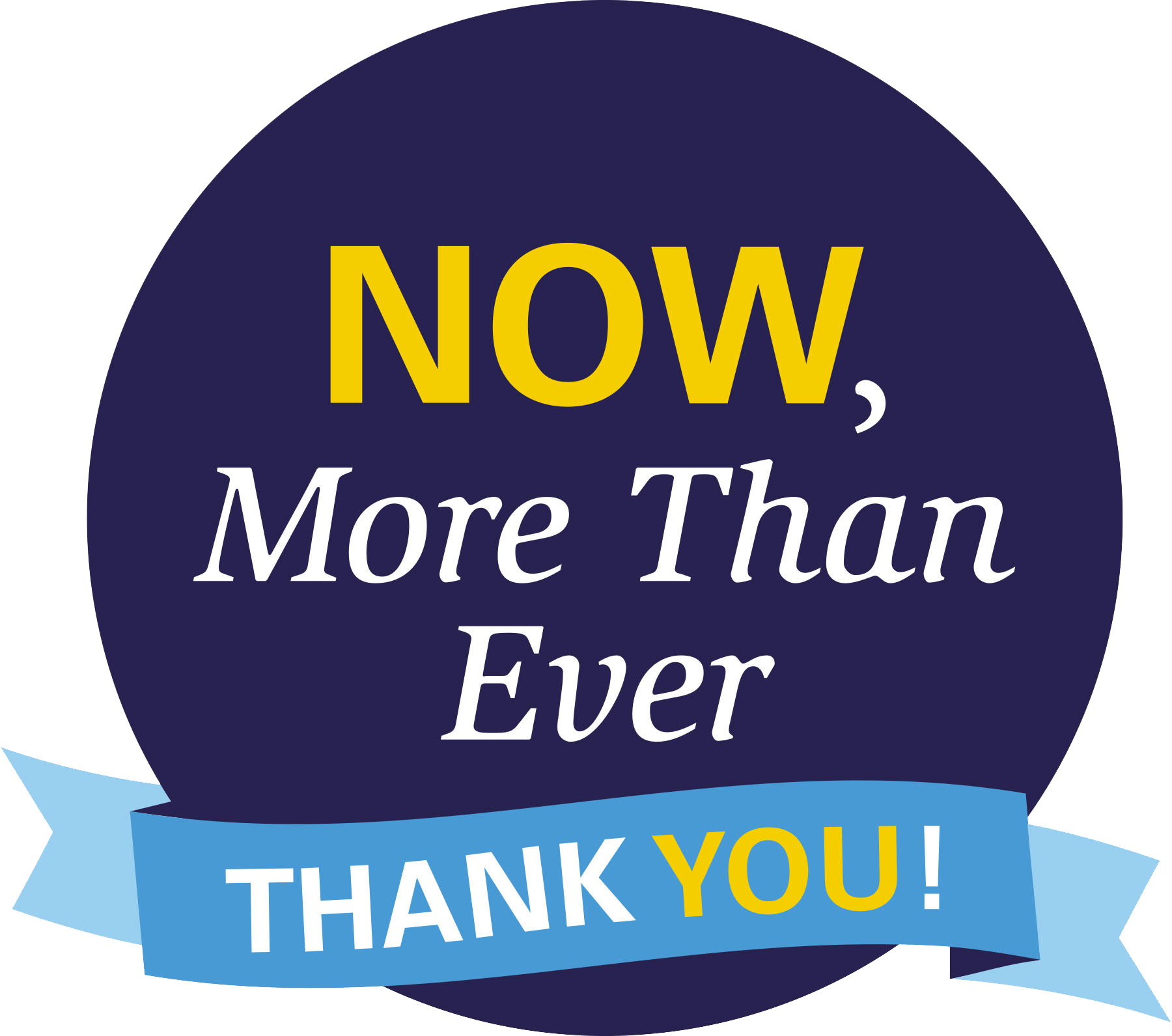 CH Fund Logo: Now, More Than Ever, Thank You!