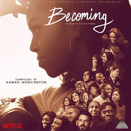 Netflix poster for the Becoming documentary