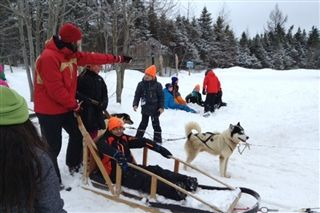 TFS students experiencing winter in Quebec City