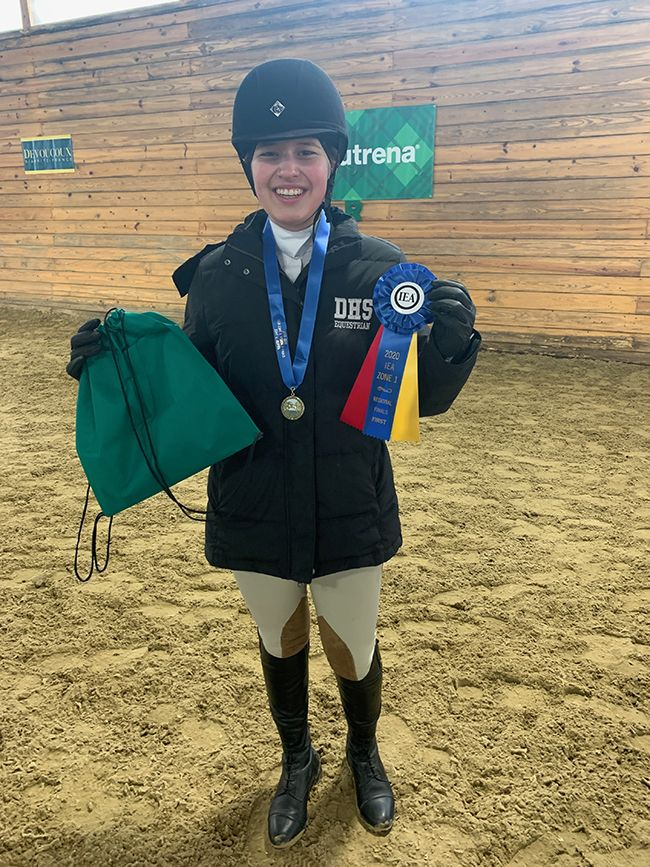 A. Sullivan '24 placed 1st in the individual Future Novice Over Fences class