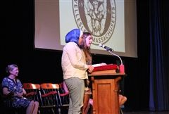 All-School Co-Presidents D. Husami '18 and S. Habermann '18