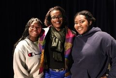 Pamela Martin Green '81 with SHADES co-heads B. Jenkins '18 and B. Smith '19