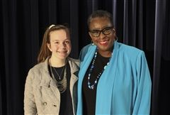 M. Housman '22 and Framingham Mayor Yvonne Spicer