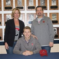 Drew Brady '18 announced his intention to row at Cornell University, beginning in the fall.
