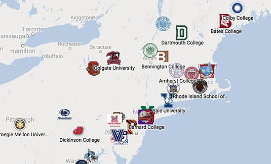 Click here to view the interactive College Matriculation Map