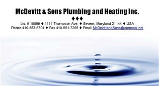 McDevitt and Sons Plumbing & Heating