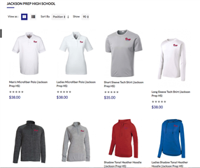 PREP Sailing Team Store
