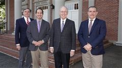 From left, Headmaster Pete Sanders, Alexander Heffner, King Rogers, and Counselor Eddie Batey
