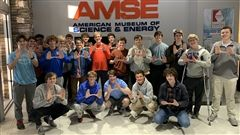 Analice Sowell's Materials Science students at the American Museum of Science & Energy