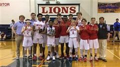 Pictured from left, Assistant Coach Jerry Peters (MUS senior), Bradley Snider, Assistant Coach Zack Street (MUS Class of 2018), Joakim Dodson, Andrew Ogbeide, Marcus Moore, Cooper Solberg, Milling Chapman, Caleb Ellis, Michael Ray, Hall Thompson, George Steffens, Jackson Peters, Thomas Craig, Head Coach Jason Peters (MUS Class of 1988)