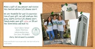 Receive an Alumni Shirt with any Gift!