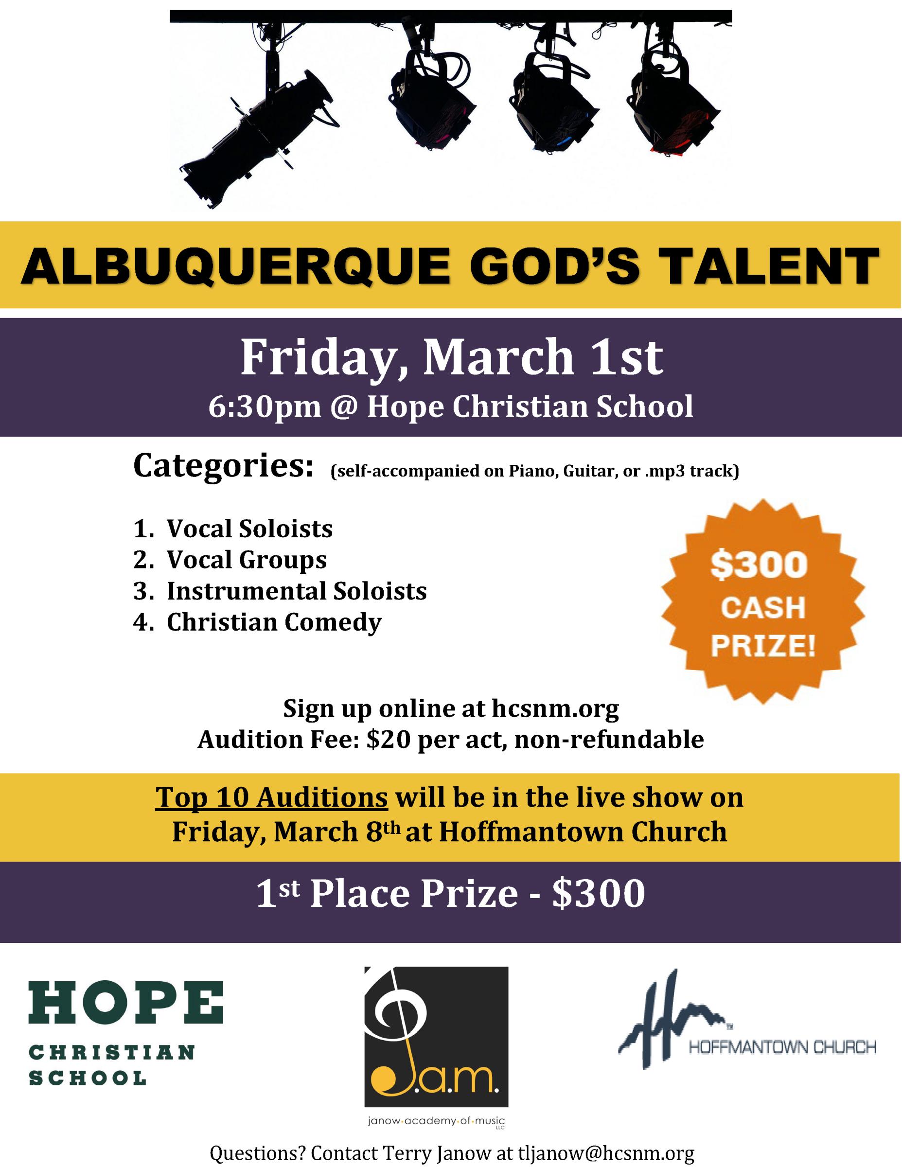 Hope Christian School   Albuquerque NM AGT Auditions