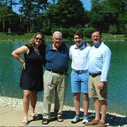 The Schneid Family (left to right): Katie '22, John Sr. '53, Colin '24 and John Jr. '86