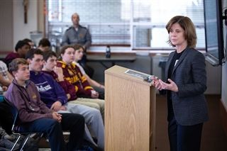 The Honorable Amy St. Eve Speaks to Political Science Students