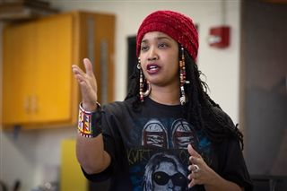 Chicago Artist Tonika Lewis Johnson Inspires Ignatian Service Learning Students