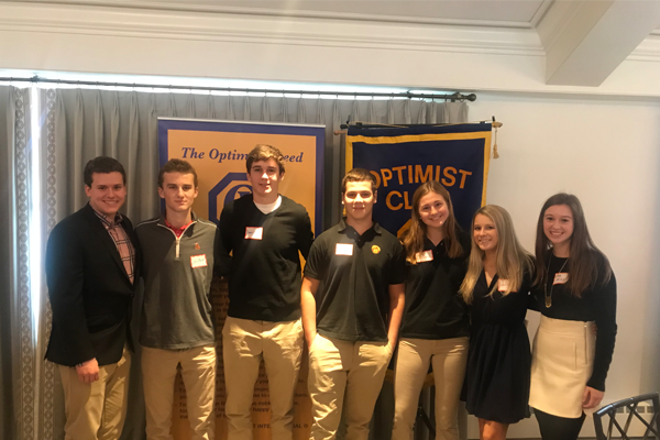 Seven Seniors Honored at Glenview Optimist Club Breakfast
