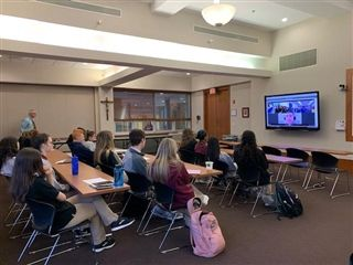 World Religion Students Expand Horizons with Video Conference
