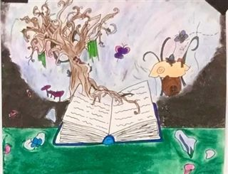 "First Place: Alyanna Arlegui, Visual Art for ""What is imagination?"""