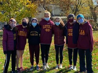 The girls' cross country team took 2nd place at the IHSA 3A sectional meet on Saturday, October 31.