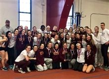 Girls' Track and Field Wins Indoor GCAC Championship