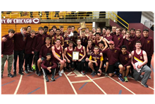 Boys' Track Wins CCL Indoor Championship