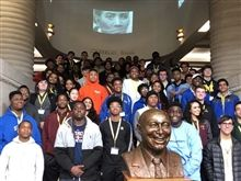 Day 2: Students from Jesuit high schools around the country gathered to learn about the history of African Americans from pre-history to the present at the Charles Wright Museum of African American History.