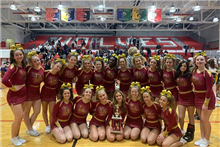 JV Cheer took 3rd place in their final competition at Niles West High School