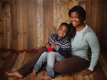 Ebony Scott '98 with son Thad