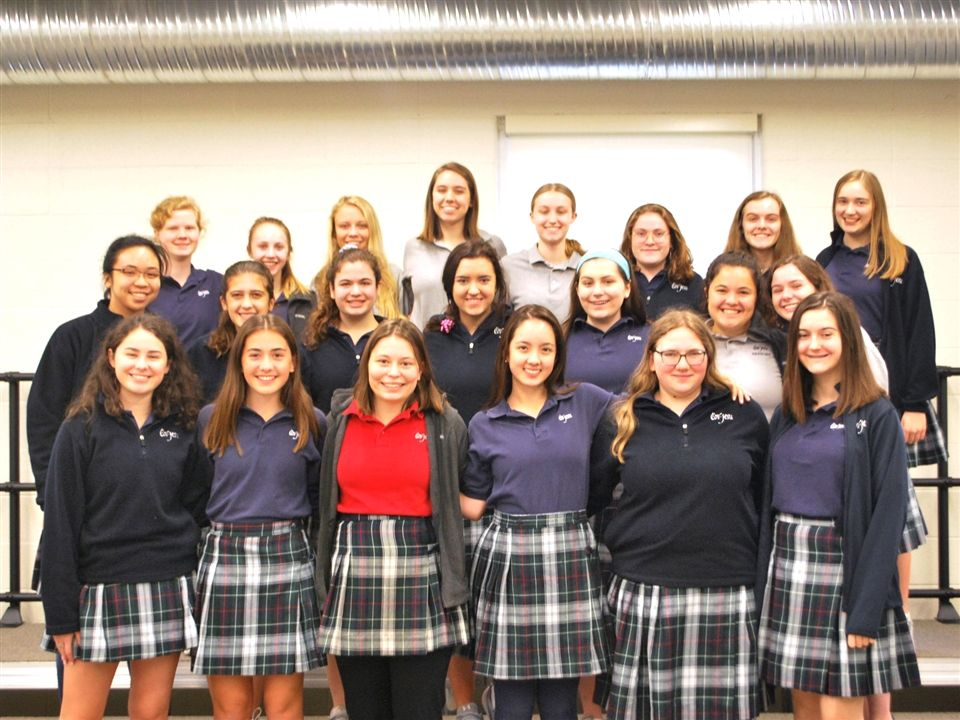 The twenty-two students who were selected for District Honors Choirs