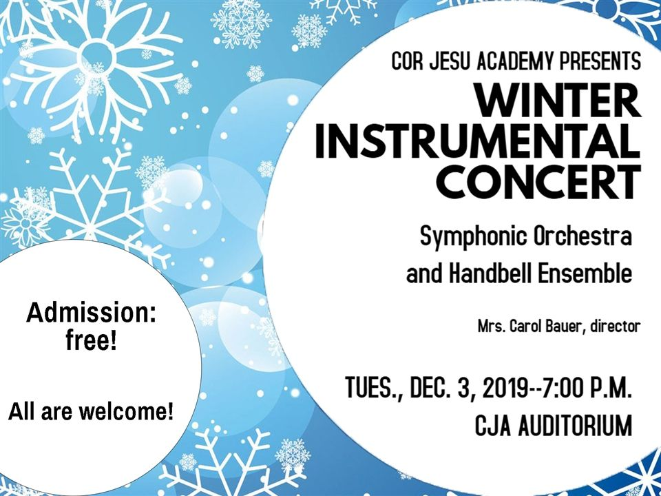 Winter Instrumental Concert - December 3, 2019 at 7:00 pm