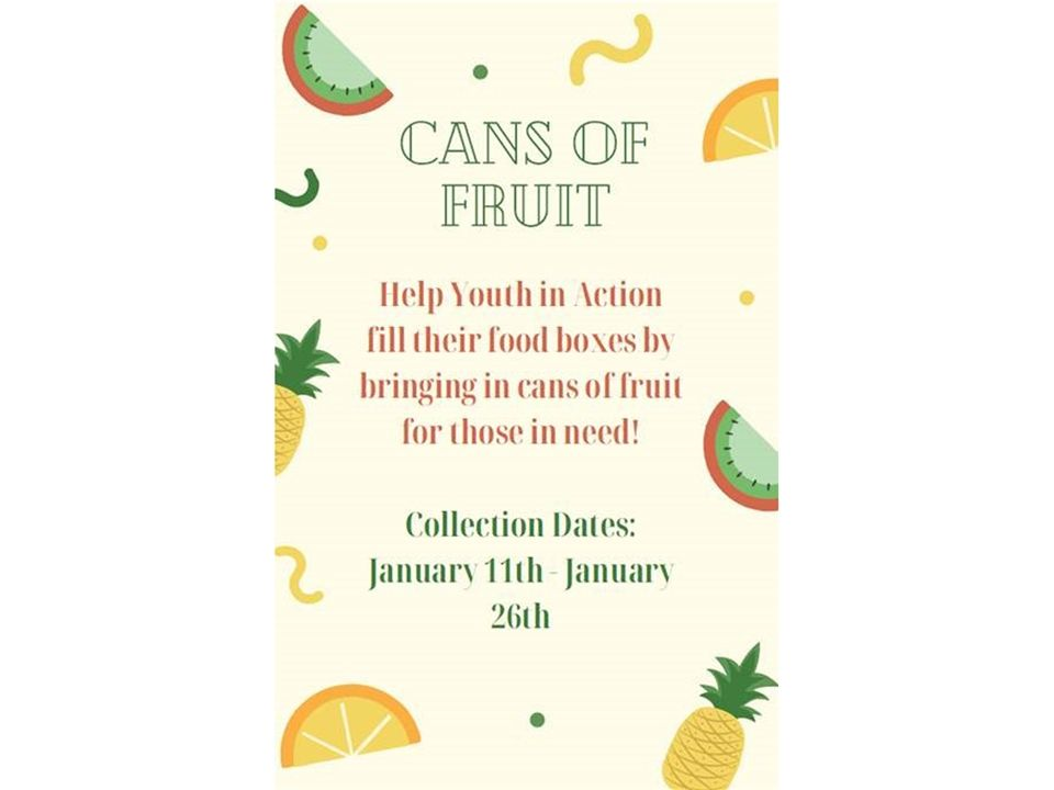 CARE Canned Food Drive Details