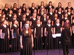 CJ's Choir performed during a joint concert with SLUH in March.