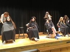Cor Jesu students participate in the annual Haircuts for Love event