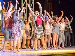 The cast of Cor Jesu's production of 42nd Street