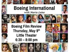 Boeing Film Review Announcement, Thursday, May 9th at 6:30 pm in the Little Theater