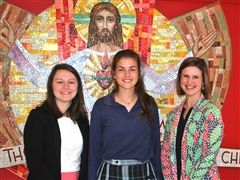 Grace Killian '20 with Claire Anglo and Sarah McDoniel