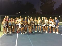 The Charger tennis team and their families at the Charger Invitational Tennis Fun Tournament