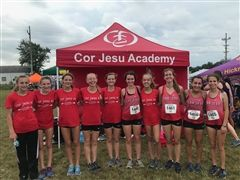 The Cross Country team at the Missouri Southern Stampede Race