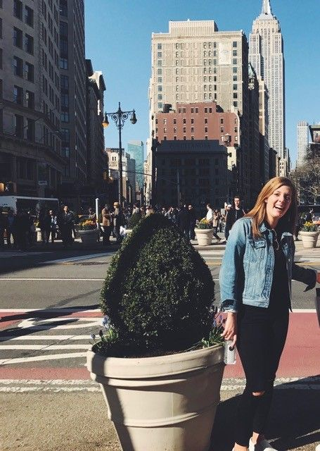 Anne Wilhelm '15 in New York City