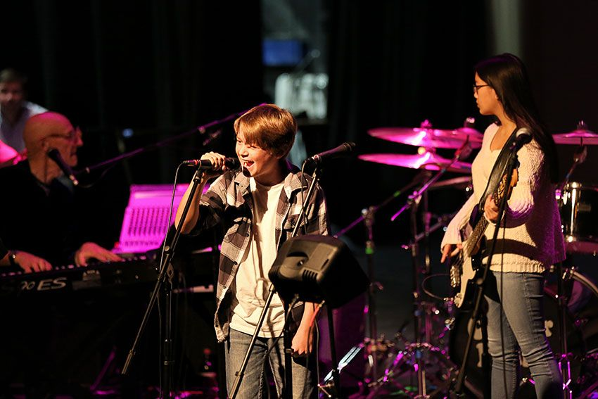 Sixth Grader Sings in Blues Band
