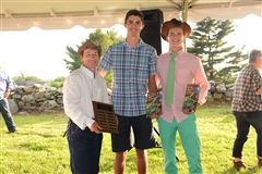 Pictured L to R: Director of Ambler Farm Kevin Meehan, Betty Ambler Award co-winners Corey Sabia and Quentin Andersen