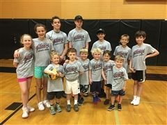 Some of the campers from week 1 of the St. Luke's Sports Camp